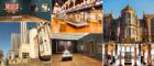 A selection of images showing the exteriors and interiors of the Hunterian Museum and Hunterian Art Gallery